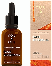 Парфюмерия и Козметика Подхранващ и изсветляващ серум за лице - You & Oil Amber. Face Bioserum