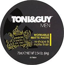 Парфюмерия и Козметика Моделираща паста за коса с матиращ ефект - Toni & Guy Men Workable Matte Paste