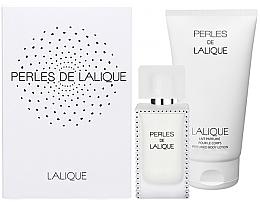 Парфюми, Парфюмерия, козметика Lalique Perles de Lalique - Комплект (edp/50ml + b/l/150ml)