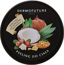 Парфюмерия и Козметика Захарен скраб за тяло с масло от ший и кокос - DermoFuture Sugar Body Scrub