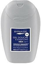 Парфюми, Парфюмерия, козметика Гел-шампоан 2в1 за мъже - Byphasse Men Shower Gel-Shampoo 2in1 Groovy Paradise