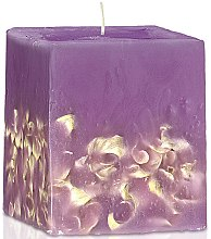 "Парфюмерия и Козметика Ароматна свещ ""Люляк"" - Bulgarian Rose Perfume Fragrant Wax Candle Lilac"