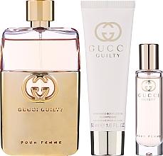 Парфюмерия и Козметика Gucci Guilty Pour Femme - Комплект (парф. вода/90ml + лос. за тяло/50ml + мини парф. вода/15ml)
