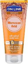 Парфюмерия и Козметика Скраб за тяло - On Line Senses Body Scrub Moroccan Gold