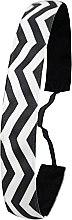 Парфюми, Парфюмерия, козметика Лента за коса, черно-бяла - Ivybands Chevron Black White Hair Band