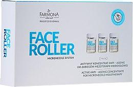 Парфюми, Парфюмерия, козметика Концентрат против стареене за мезотерапия - Farmona Professional Face Roller Active Anti-Ageing Concentrate