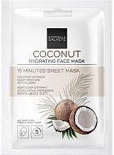 Парфюмерия и Козметика Овлажняваща памучна маска за лице с кокос - Gabriella Salvete Coconut Hydrating 15 Minutes Sheet Mask