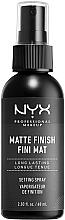 Парфюмерия и Козметика Спрей за фиксиране на грим с матов ефект - NYX Professional Makeup Matte Finish Long Lasting Setting Spray