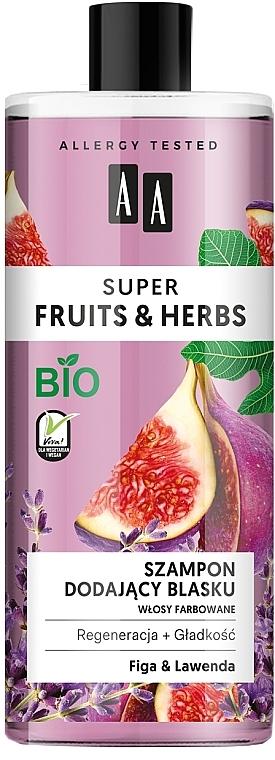 Шампоан за блясък със смокиня и лавандула - AA Super Fruits & Herbs Shampoo Fig & Lavender