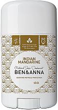Парфюмерия и Козметика Дезодорант на базата на сода с аромат на индийска мандарина - Ben & Anna Natural Soda Deodorant Indian Mandarine