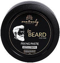 Парфюми, Парфюмерия, козметика Моделираща паста за брада и коса - One&Only Cosmetics For Beard&Hair Fixing Paste With Fibres