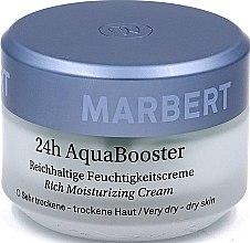 Парфюмерия и Козметика Дълбоко хидратиращ крем за лице, за много суха кожа, 24 ч. - Marbert 24h Aqua Booster Moisturizing Cream For Dry Skin