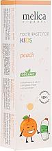 Парфюмерия и Козметика Детска паста за зъби с вкус на праскова - Melica Organic Toothpaste For Kids Peach