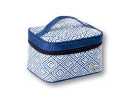 """Парфюми, Парфюмерия, козметика Козметична чанта в синьо с геометрични фигури """"Rhombus"""" 93784 - Top Choice"""