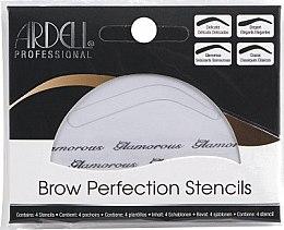 Парфюмерия и Козметика Комплект шаблони за вежди - Ardell Brow Perfection Stencils
