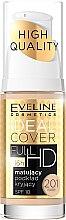 Парфюми, Парфюмерия, козметика Матиращ фон дьо тен с прикриващ ефект - Eveline Cosmetics Ideal Cover Full HD SPF10