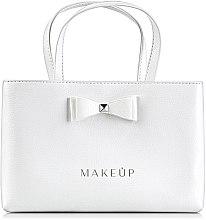 Парфюмерия и Козметика Кожена чанта с панделка White elegance - MakeUp
