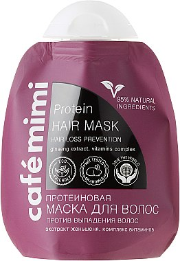 "Протеинова маска за коса ""Против косопад"" - Le Cafe de Beaute Cafe Mimi Protein Hair Mask"