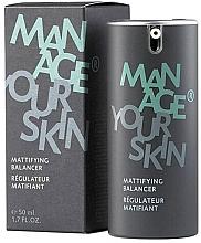 Парфюмерия и Козметика Матиращ флуид за лице за мъже - Dr. Spiller Manage Your Skin Mattifying Balancer