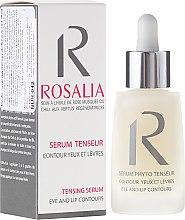 Парфюмерия и Козметика Укрепващ серум за околоочния контур и устни - Naturado Rosalia Serum Eye And Lip Contours