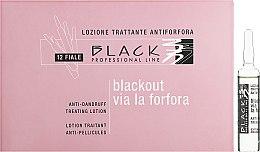 Парфюмерия и Козметика Лосион на ампули против пърхот - Black Professional Line Anti-Dandruff Hair Lotion