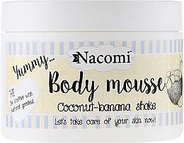 """Парфюмерия и Козметика Мус за тяло """"Шейк от кокос и банан"""" - Nacomi Body Mousse Coconut-Banana Shake"""