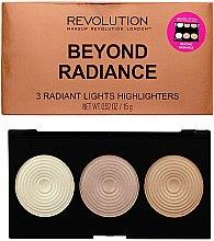 Парфюмерия и Козметика Палитра бронзант за лице - Makeup Revolution Highlighter Palette Beyond Radiance