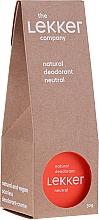 Парфюмерия и Козметика Натурален крем-дезодорант за тяло, без аромат - The Lekker Company Natural Deodorant Neutral