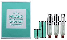 Парфюми, Парфюмерия, козметика Комплект парфюмни пълнители - Travalo Milano Aqua Set (пълнител/3x5ml + калъф)