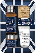 Парфюми, Парфюмерия, козметика Комплект за брада и мустаци - Baylis & Harding Fuzzy Duck Men's Ginger & Lime (вакса/50g + сапун/25g + шампоан/100ml + балсам/30ml)