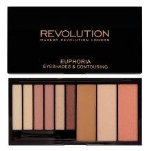 Парфюми, Парфюмерия, козметика Палитра сенки и контури - Makeup Revolution Euphoria Palette