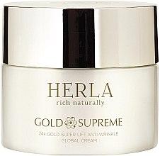 Парфюми, Парфюмерия, козметика Крем за лице - Herla Gold Supreme 24K Gold Super Lift Anti-Wrinkle Global Cream