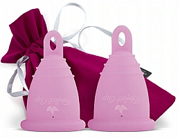 Парфюмерия и Козметика Комплект менструални чаши, розови, размер S-M - Perfect Cup