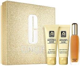 Парфюми, Парфюмерия, козметика Clinique Aromatics Elixir Essentials Set - Комплект (парф. вода/45ml+душ гел/75ml+лосион за тяло75ml)