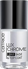 Парфюми, Парфюмерия, козметика Основа-топ лак за нокти - Catrice LuxChrome 2in1 Base & Top Coat