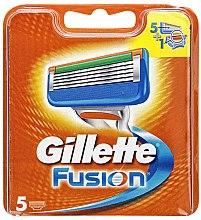 Сменяеми ножчета за бръснене, 5 бр. - Gillette Fusion — снимка N3
