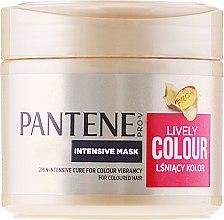 """Парфюми, Парфюмерия, козметика Интензивна маска за коса """"Защита на цвета и блясък"""" - Pantene Pro-V Lively Colour"""