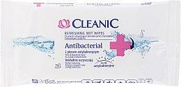 Парфюми, Парфюмерия, козметика Овлажняващи антибактериални кърпички , 3х15бр. - Cleanic Antibacterial Wipes