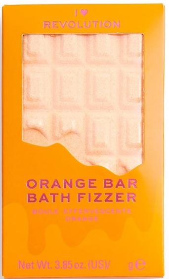 "Бомбичка за вана - I Heart Revolution Chocolate Bar Bath Fizzer ""Orange"" — снимка N1"
