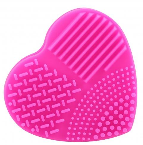 Силиконов уред за почистване на четки за грим, цикламен - Ilu Brush Cleaner Hot Pink