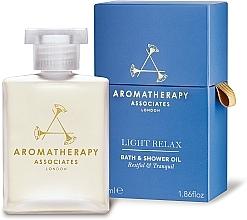 Парфюмерия и Козметика Релаксиращо масло за душ и вана - Aromatherapy Associates Light Relax Bath & Shower Oil