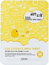 Парфюмерия и Козметика Памучна яйчена маска за лице - Esfolio Pure Skin Egg Essence Mask Sheet