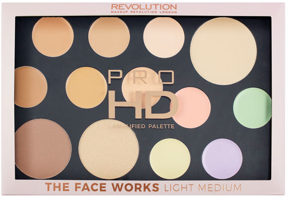 Контурираща палитра за лице - Makeup Revolution Pro HD The Works Palette