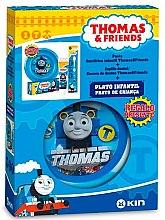 Парфюми, Парфюмерия, козметика Детски комплект за зъби - Kin Thomas & Friends Kit (toothpaste/50ml + toothbrush/1pcs + plate/1pcs)
