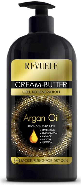 Крем-масло за ръце и тяло 5в1 - Revuele Argan Oil Cream-Butter