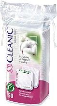 "Парфюми, Парфюмерия, козметика Козметични памучни тампони ""Pure Effect"", 50 бр. - Cleanic Face Care Cotton Pads"