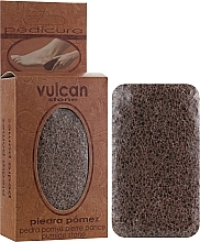 Парфюмерия и Козметика Пемза за пети, 84x44x32мм, Terracotta Brown - Vulcan Pumice Stone