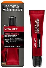 Парфюмерия и Козметика Околоочен крем против бръчки за мъже - L'Oreal Paris Men Expert Vita Lift Anti-Ageing Eye Cream