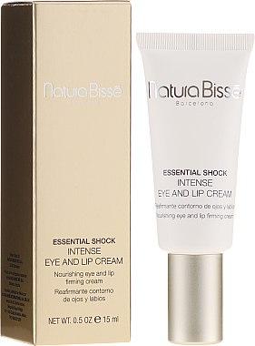 Интензивен крем грижа за суха кожа в областта на очите и устните - Natura Bisse Essential Shock Intense Eye and Lip Treatment SPF15