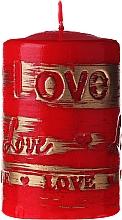 Парфюмерия и Козметика Декоративна свещ, червена, 7х10см - Artman Lovely